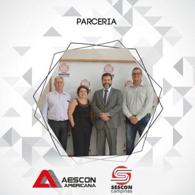 Visita realizada quinta-feira (21/02), na sede do Sescon Campinas, ao Presidente Rodrigo de Abreu Gonzales.