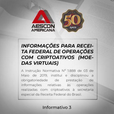 Informações para Receita Federal de operações com criptomoedas (moedas virtuais)