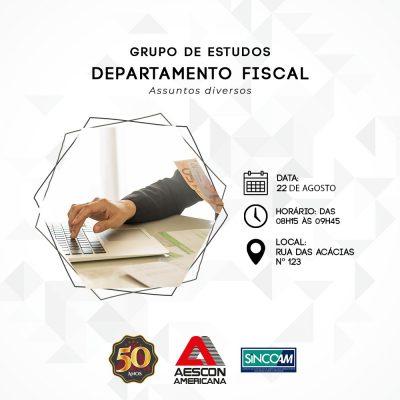 Grupo de Estudo Departamento Fiscal 22/08